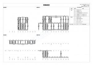 木造3階軸組図sample04